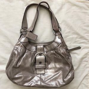 COACH sparkly hobo shoulder bag